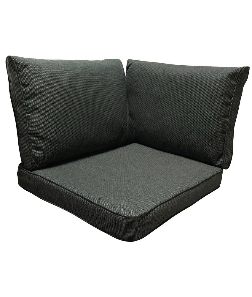 Madison Lounge Rib Black kussenset 3-Delig