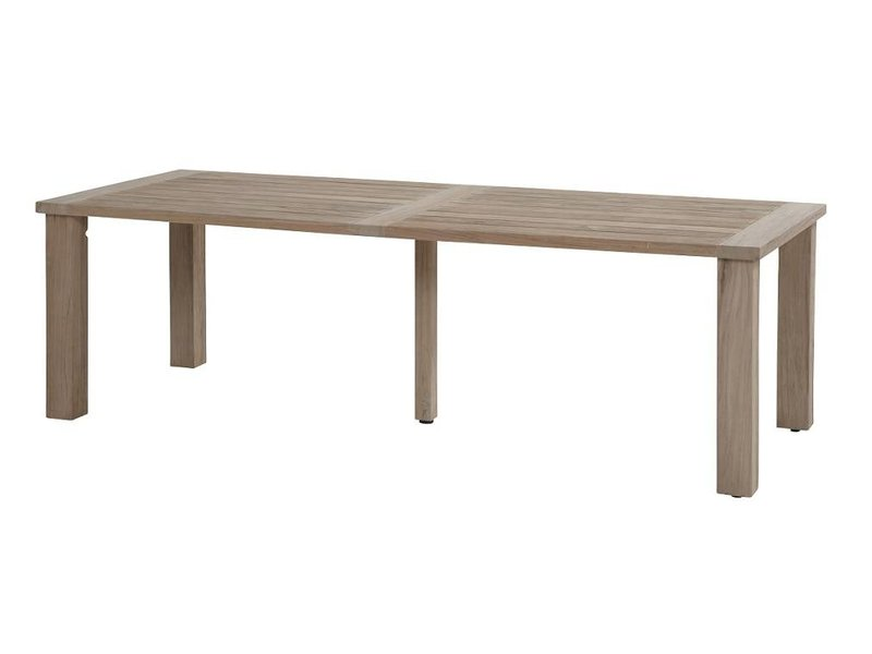 Hartman Sophie element Misty grey met Taste by 4 Seasons Louvre teak tafel 240cm Tuinset