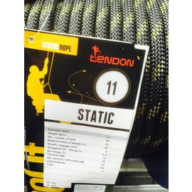 Tendon Touw Static 11mm Zwart per meter