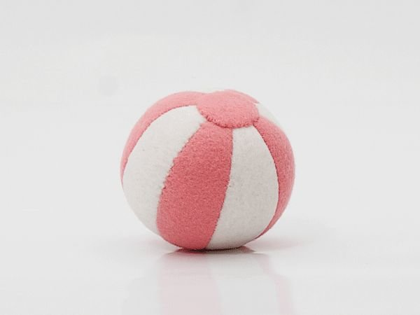Vilten bal roze/wit