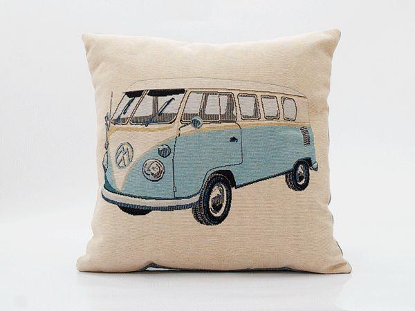 Kussen Volkswagen lichtblauw - Wonen voor jou