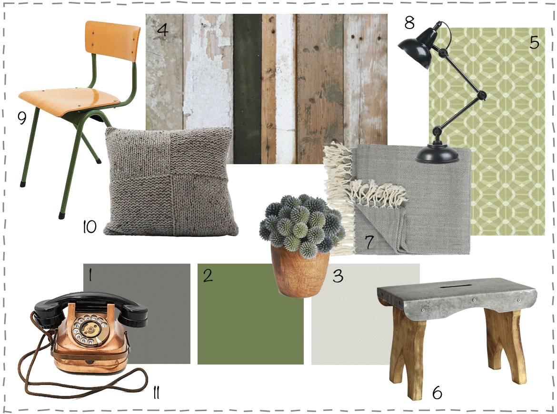 Moodboard interieur met groene accenten wonen voor jou for Interieur inspiratie blog