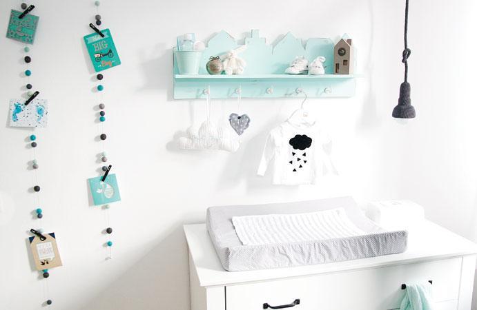 babykamer in mint wonen voor jou