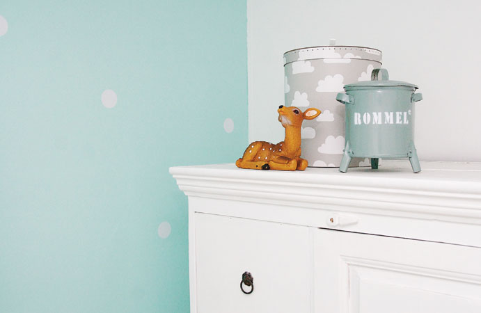 Babykamer in mint. wonen voor jou