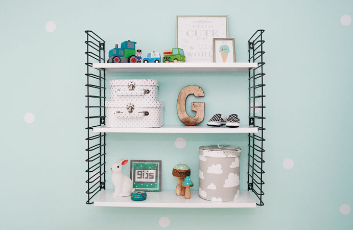 Babykamer in mint wonen voor jou for Gordijnen babykamer mintgroen