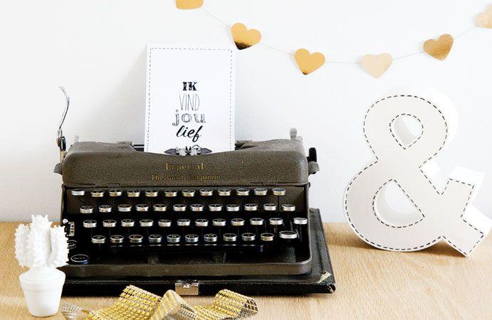 Valentijn met een gouden randje