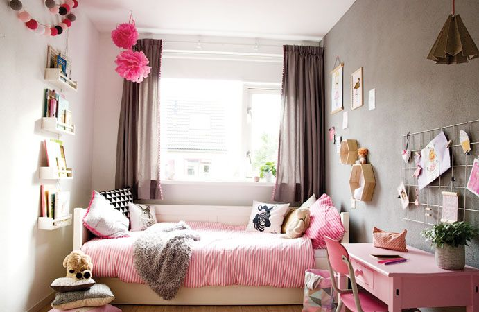 Blog meisjeskamer in roze met grijs wonen voor jou for Kamer decoratie meisje