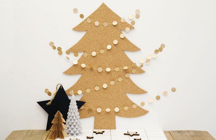 Kekke kerstboom van kurk