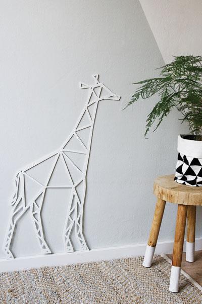 Wanddecoratie giraffe