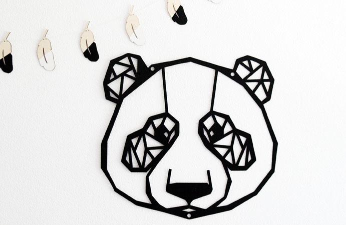 Wanddecoratie panda