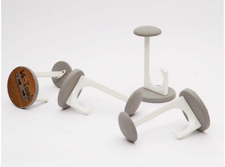Grijze vintage wandknop