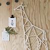 Giraffe metalen wanddecoratie
