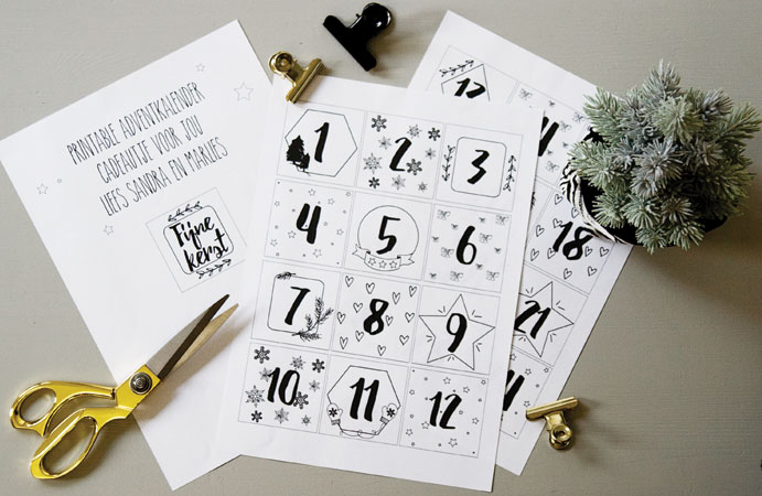 Free printable adventkalender