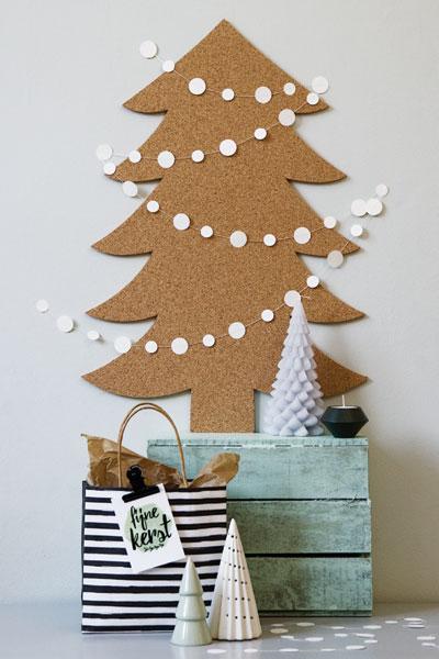 Kerstboom van kurk