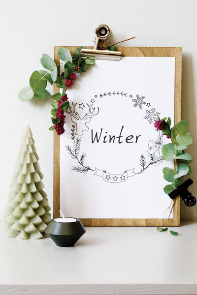 Free printable winter