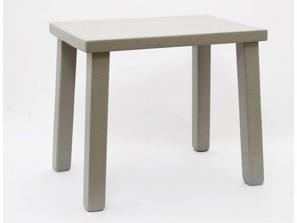 Eiken tafeltje grijs