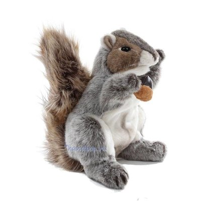 Folkmanis handpop eekhoorn grijs