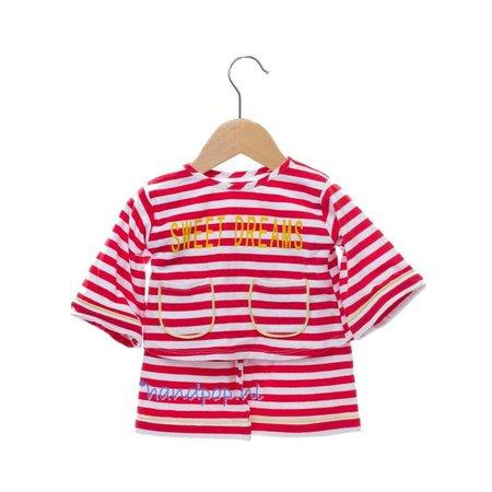 Living Puppets Pyjama wit/rood voor grote menspop