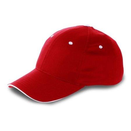 Stoere rode pet voor grote menspop