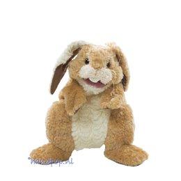 Folkmanis handpop konijn patchwork