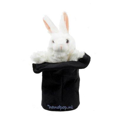 Folkmanis handpop konijn in hoed