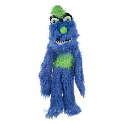 The Puppet Company handpop monster blauw