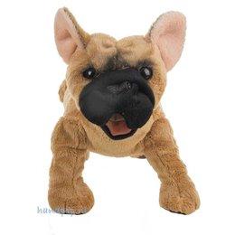 Folkmanis handpop hond Franse bulldog
