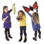 Folkmanis handpop monarch vlinder (pop, rups, vlinder)