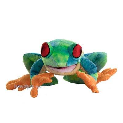 The Puppet Company handpop kikker (roodoogkikker)
