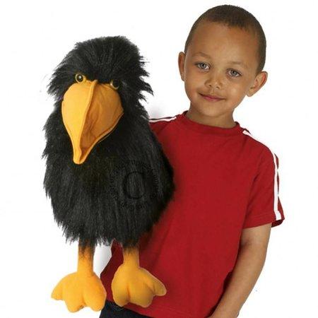 The Puppet Company zwarte vogel handpop