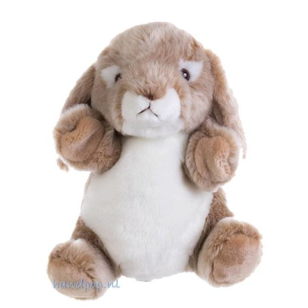The Puppet Company handpop knuffelig wild konijntje