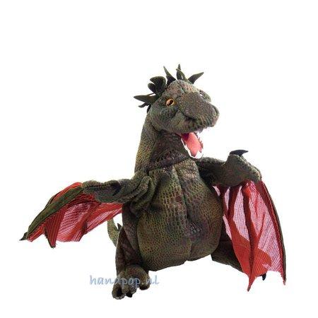 Folkmanis Draak met rode vleugels