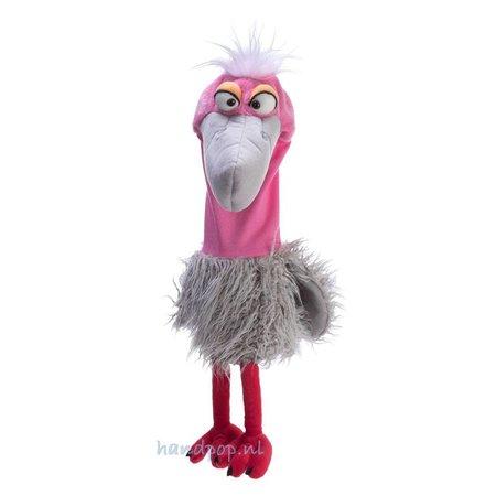 Living Puppets Lari-Fari de grijs/roze vogel