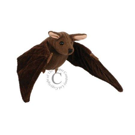 The Puppet Company vingerpopje bruine vleermuis