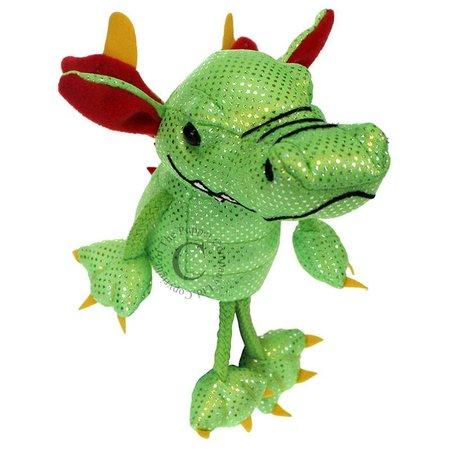 The Puppet Company vingerpopje groene draak