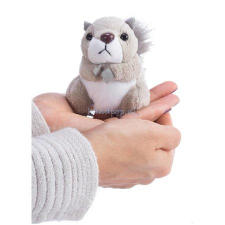 The Puppet Company vingerpopje grijze eekhoorn
