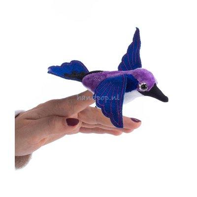 The Puppet Company kolibri paars vingerpopje
