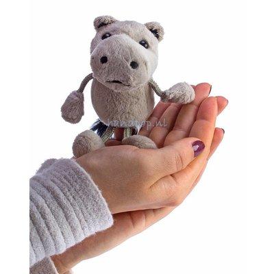 The Puppet Company nijlpaard vingerpopje