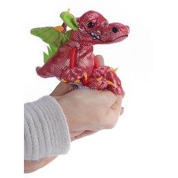 The Puppet Company draak rood vingerpopje