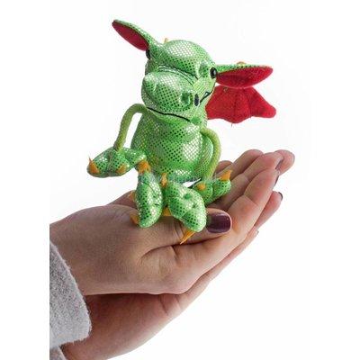 The Puppet Company draak groen vingerpopje