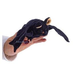 The Puppet Company vleermuis zwart vingerpopje