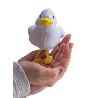 The Puppet Company eend wit vingerpopje