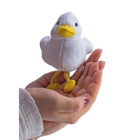 The Puppet Company vingerpopje witte eend