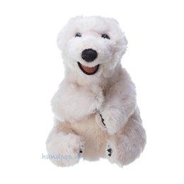 Folkmanis handpop ijsbeer zittend