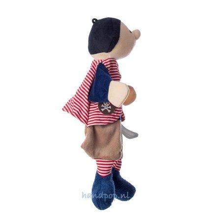 Sterntaler poppenkastpop Zeerover zwart rood