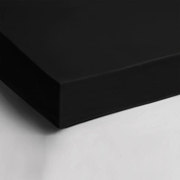 Dubbel Jersey Hoeslaken - Zwart