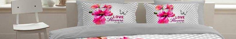 Een dekbedovertrek met bloemen - Soft Flowers