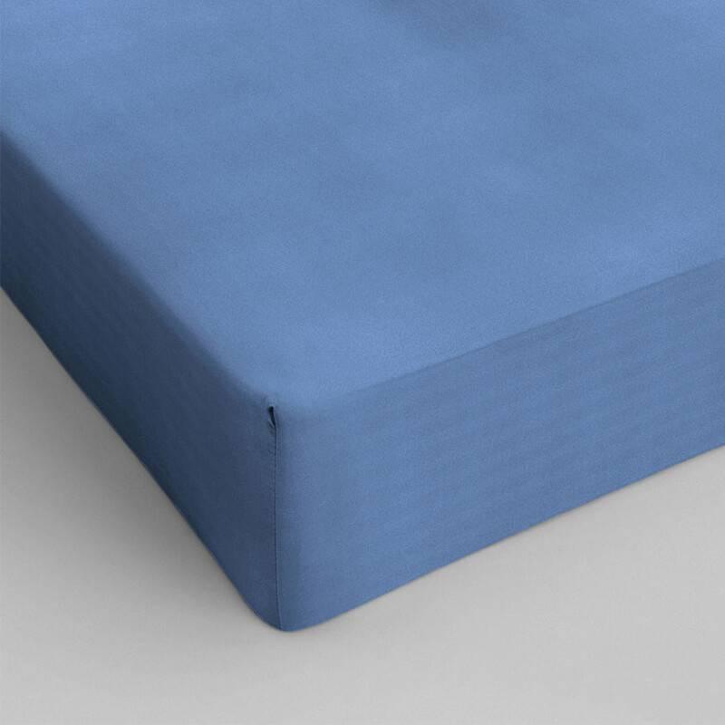 DreamHouse Bedding Verkoelend Hoeslaken Katoen - Blauw 140 x 200