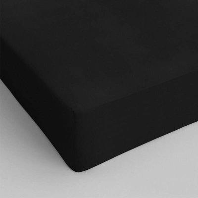 Verkoelend Hoeslaken Katoen - Zwart