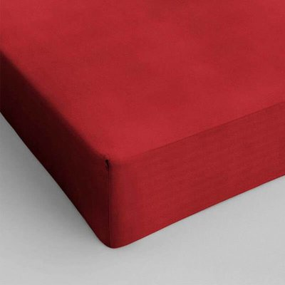 Verkoelend Hoeslaken Katoen - Rood